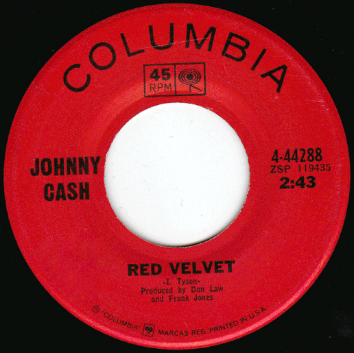 Johnny Cash - Red Velvet single