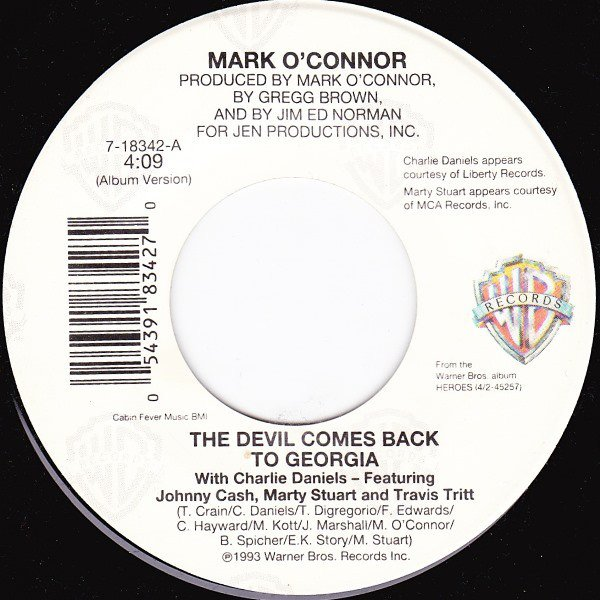 Mark O'Connor - The Devil Comes Back To Georgia single