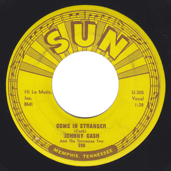 Johnny Cash - Come in Stranger single