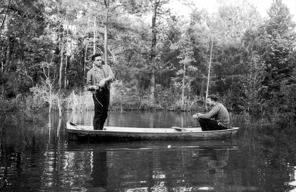 Johnny Cash and Johnny Horton go fishing