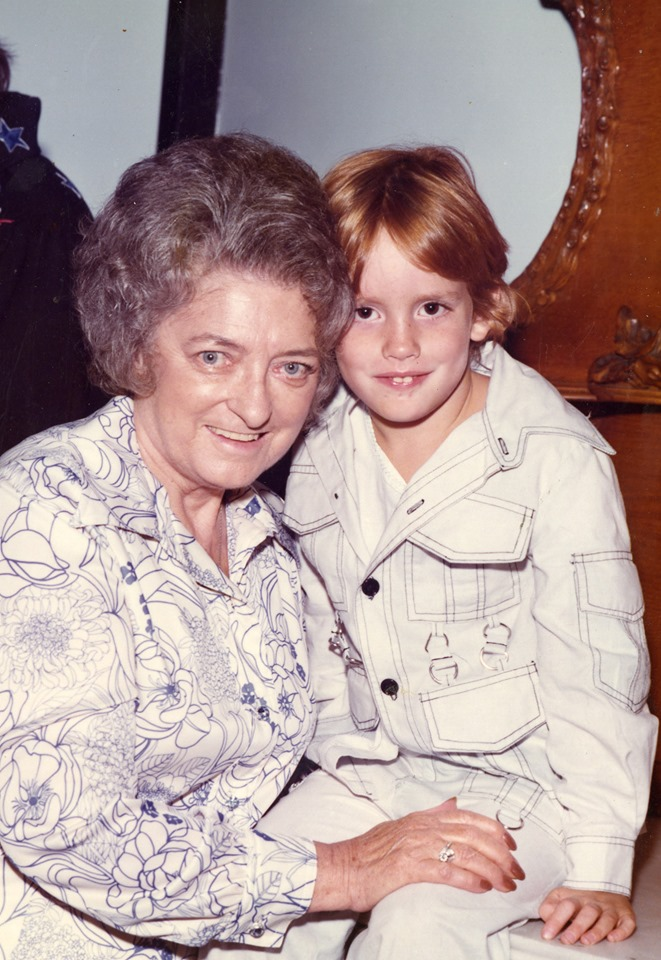 John Carter Cash with his grandmother Maybelle Carter