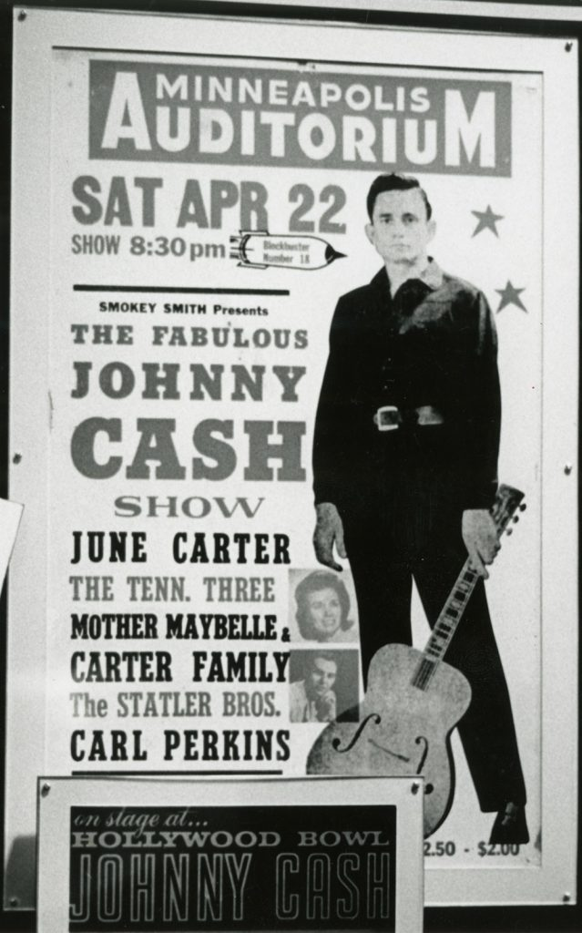 Poster For The Fabulous Johnny Cash Show In Minnesota In April 1967