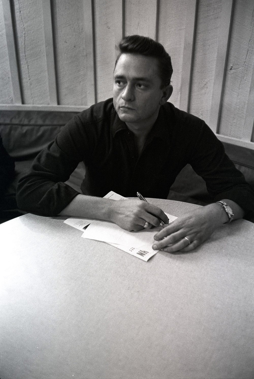 Johnny Cash In Recording Studio In October 1959 (Photo 5)