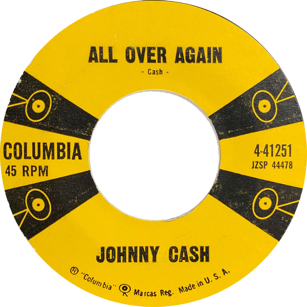 Johnny Cash - All Over Again single