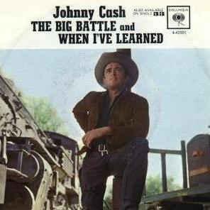 Johnny Cash - The Big Battle single