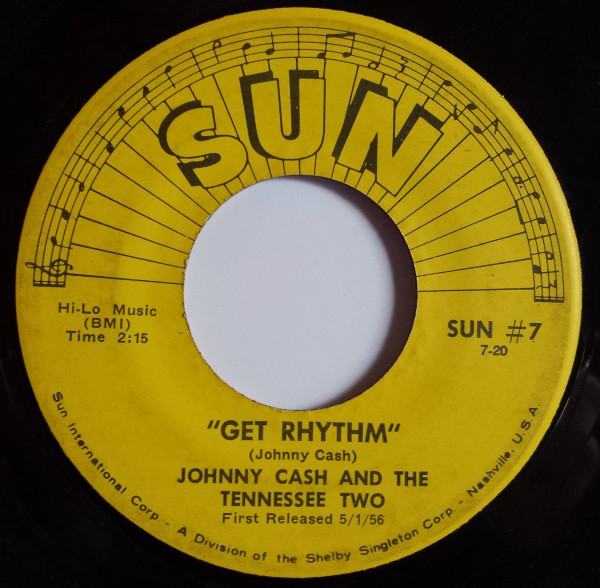 Johnny Cash - Get Rhythm single re-release