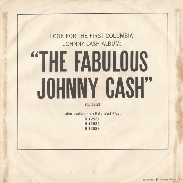 Johnny Cash - What Do I Care single back cover