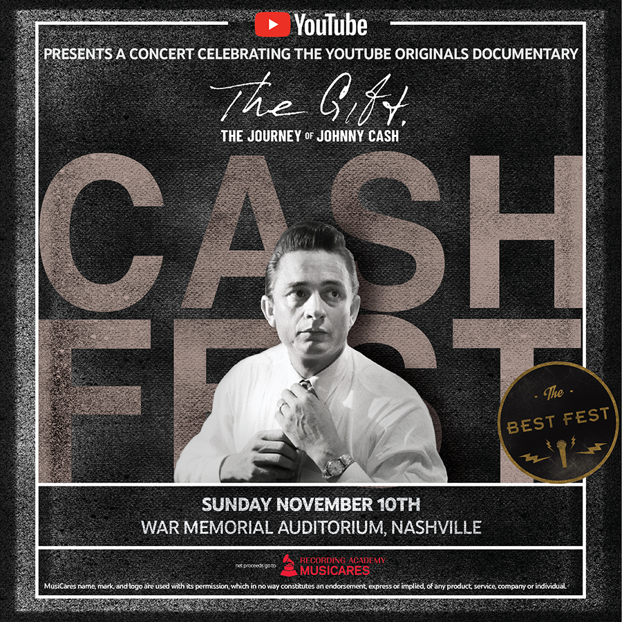 YouTube Announces First-Ever 'Cash Fest' Event in Nashville To Celebrate The Release of YouTube Originals Documentary 'The Gift: The Journey of Johnny Cash' thumbnail
