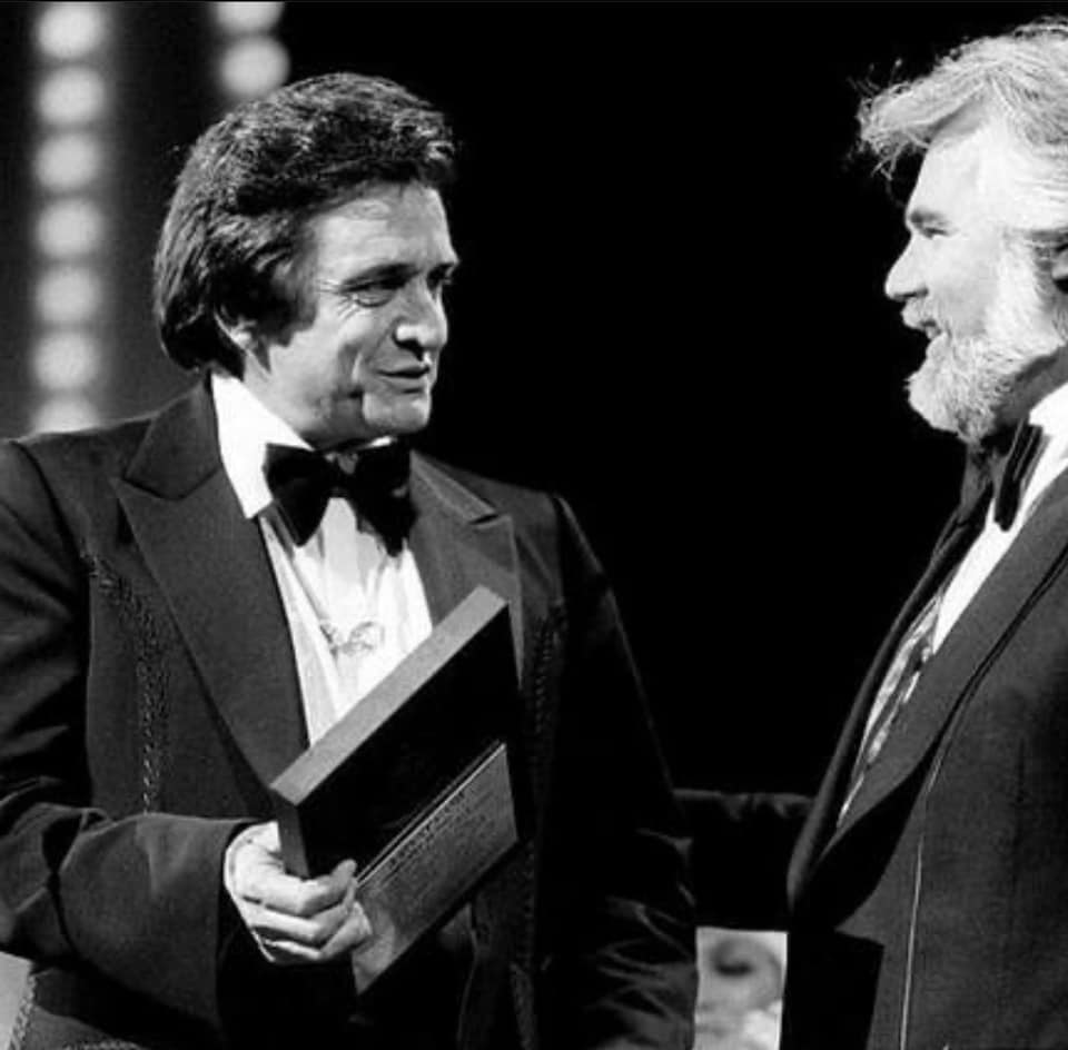 Johnny Cash and Kenny Rogers