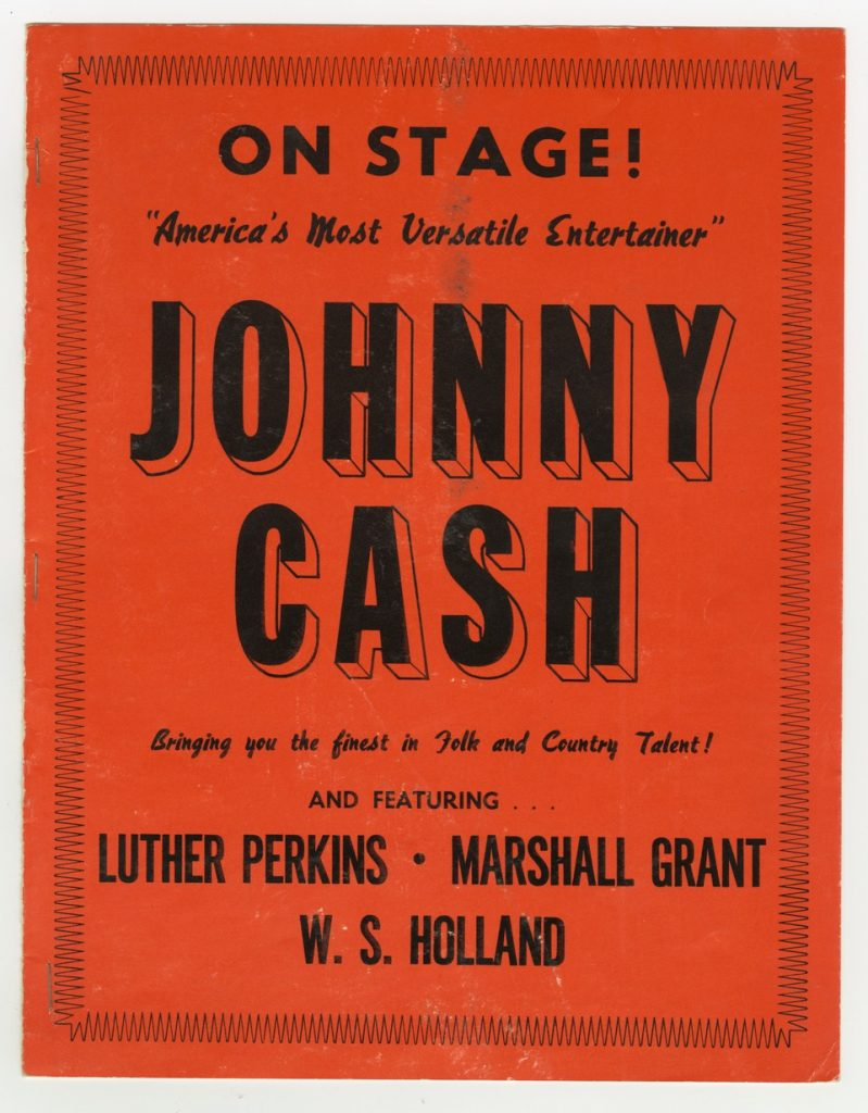 Johnny Cash On Stage flyer