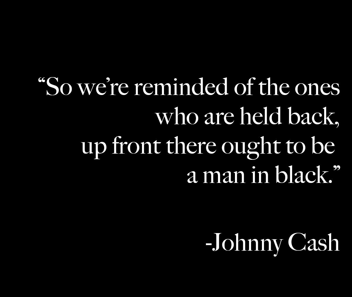 Johnny Cash - Man In Black lyrics