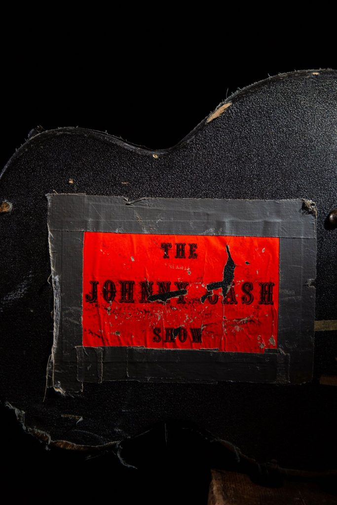 Johnny Cash's guitar case from The Johnny Cash Show tour