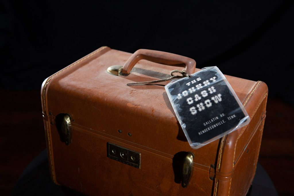 June Carter Cash travel case from The Johnny Cash Show tour
