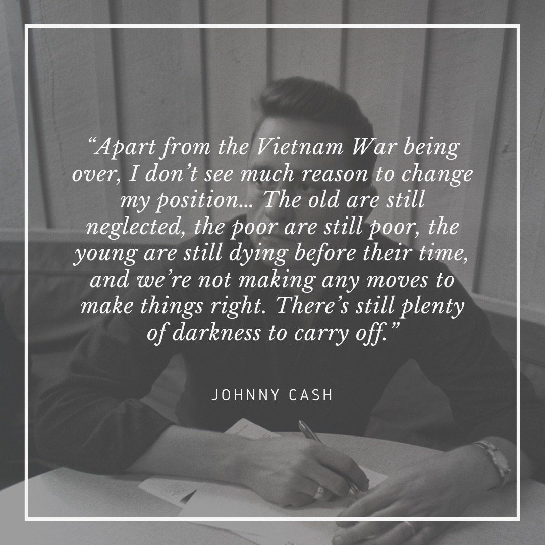 Johnny Cash quote about Man in Black