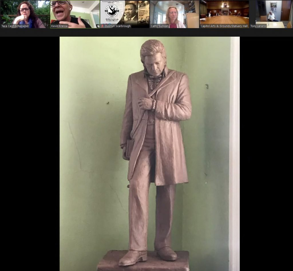 Final Modifications Being Made For Daisy Bates & Johnny Cash Arkansas Statues thumbnail
