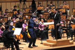 Joshua with Singapore Chinese Orchestra