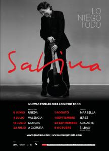 """Nuevas fechas de la gira presentación del álbum """"Lo niego todo"""" de Joaquín Sabina"""