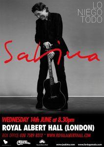 """Joaquín Sabina presentará """"Lo niego todo"""" en el Royal Albert Hall de Londres"""