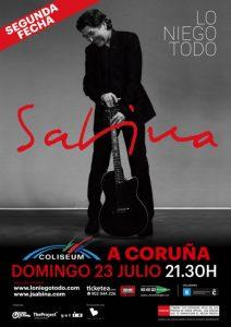 Nueva fecha de Joaquín Sabina en A Coruña