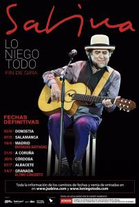 Joaquín Sabina retoma su gira en Donostia el 2 de junio
