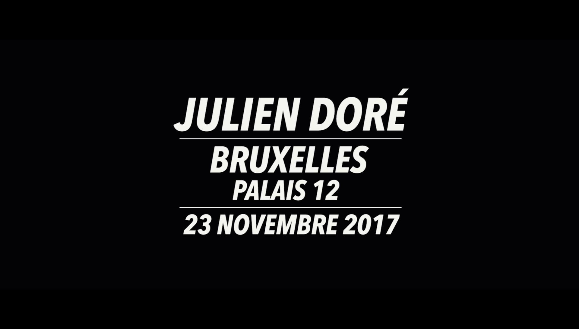 Julien Doré au Palais 12 (Bruxelles) le 23 novembre