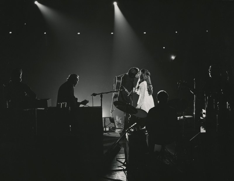 June Carter Cash and Johnny Cash perform 'Jackson' live on stage. Photo from 'House of Cash' by John Carter Cash.