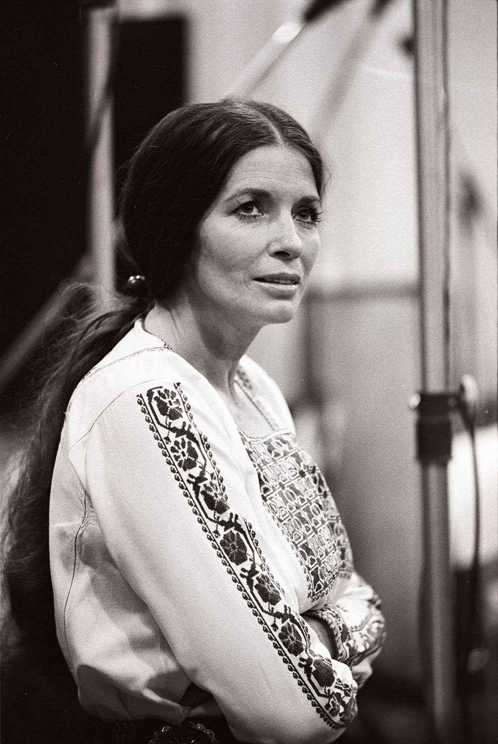 June Carter Cash at the Columbia Records 30th Street Studios in New York, NY, in July 1975