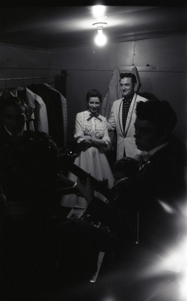 June Carter meets Johnny Cash for the first time at the Grand Ole Opry July 7, 1956