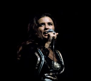 June Carter Cash performs live on stage in June 1973
