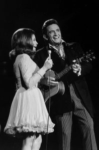 Johnny Cash and June Carter Cash perform on 'The Johnny Cash Show' in 1969