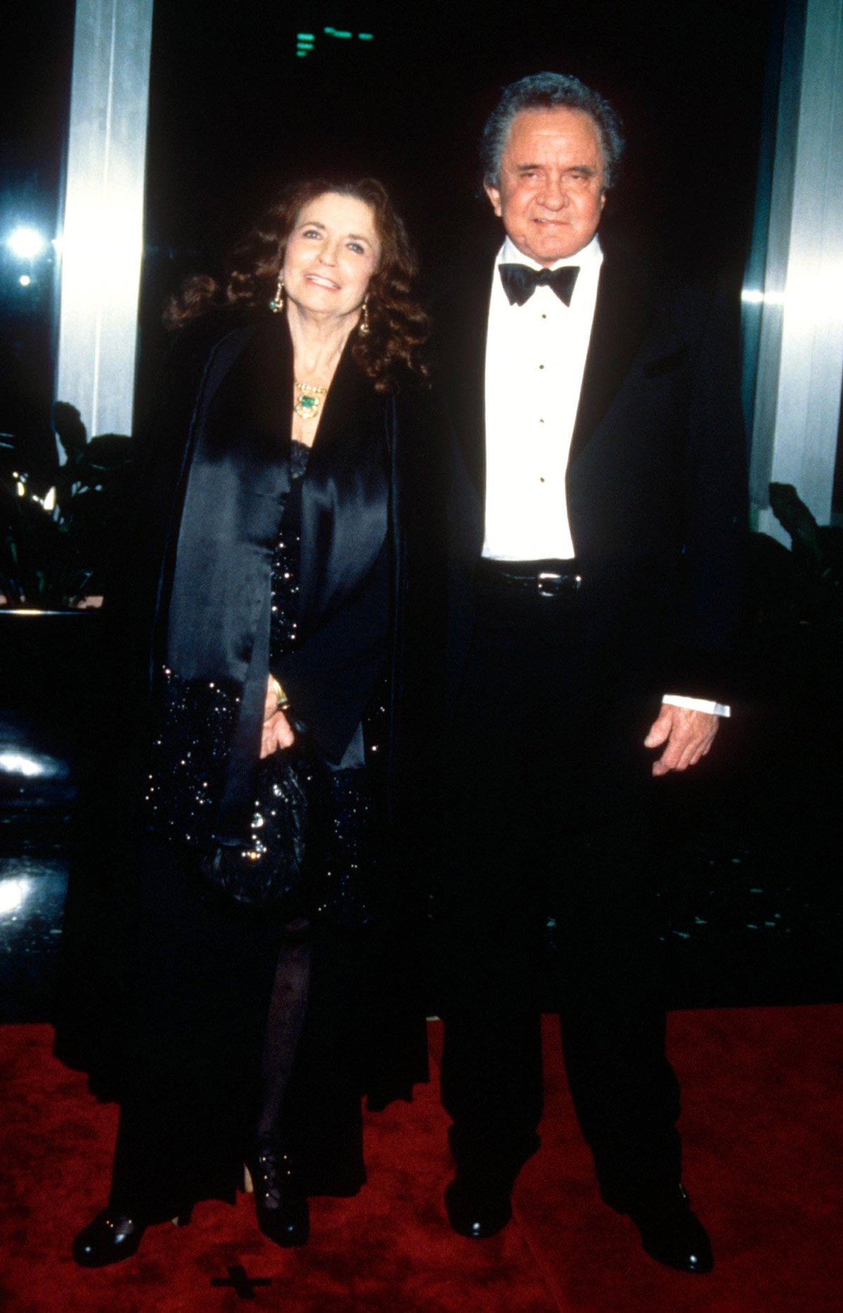 June Carter Cash attends with Johnny Cash as he receives the Kennedy Center Honors, one of the most recognized cultural awards in the United States