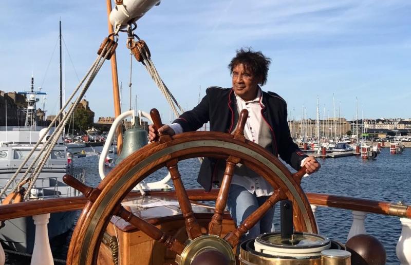 Laurent Voulzy à bord Belem
