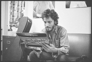 Musician Bruce Springsteen With Album