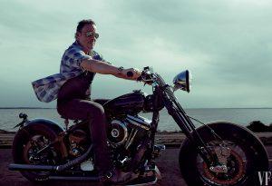 Bruce Springsteen auf Motorrad