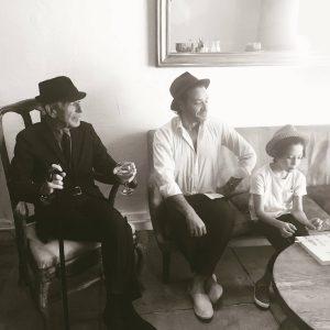 Leonard Cohen mit Sohn Adam