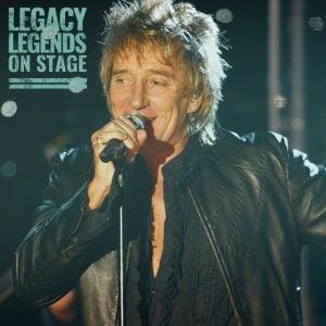 Rod Stewart live on stage