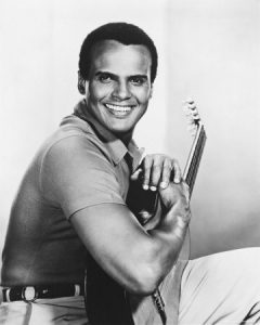 Harry Belafonte with guitar