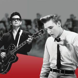Roy Oribison und Elvis Presley