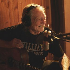 Willie Nelson im Studio