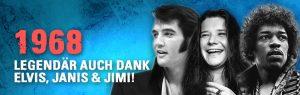1968 Elvis Janis Jimi