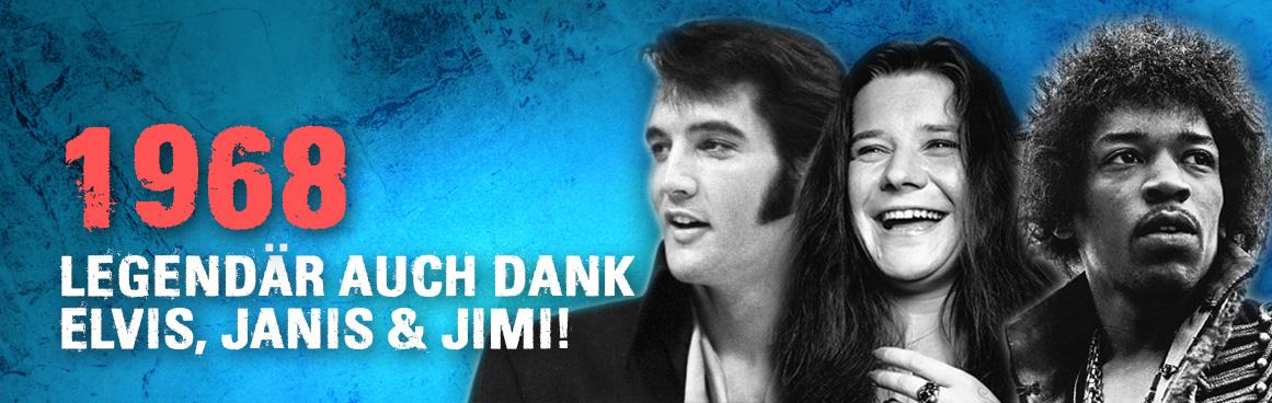 1968 Legendär Elvis, Janis, Jimi