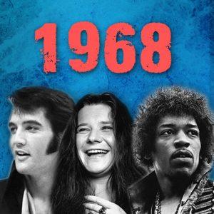 1968 Jimi Hendrix, Janis Joplin, Elvis Presley