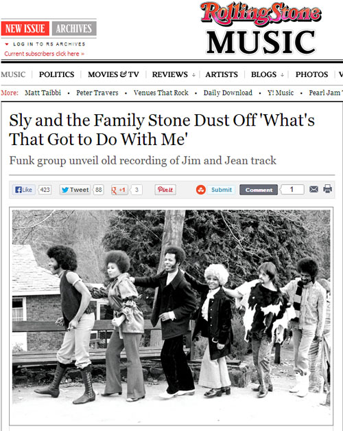 Rolling Stone Premieres 'What's That Got to Do With Me' by Sly & The Family Stone