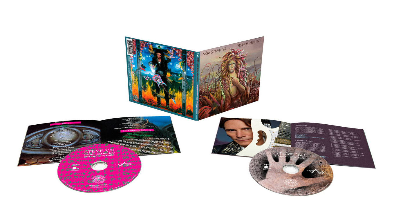 Steve Vai 'Modern Primitive / Passion and Warfare 25th Anniversary Edition' Bundle Out June 24