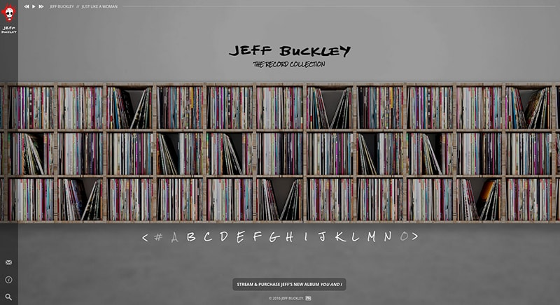 Experience Jeff Buckley's Record Collection In An Extraordinary New Online Music Site