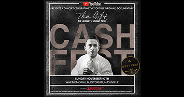 YouTube Announces First-Ever 'Cash Fest' Event in Nashville To Celebrate The Release of YouTube Originals Documentary 'The Gift: The Journey of Johnny Cash'