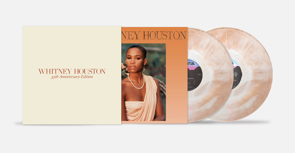 Legacy Recordings & Vinyl Me, Please Celebrate 35th Anniversary of Whitney Houston with 2LP 12″ Vinyl Collector's Set Featuring the First US Release of Whitney Dancin' Special EP/Remix Album