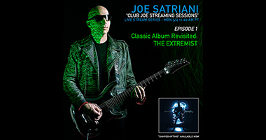 Joe Satriani To Launch A Livestream Series, Club Joe Streaming Sessions