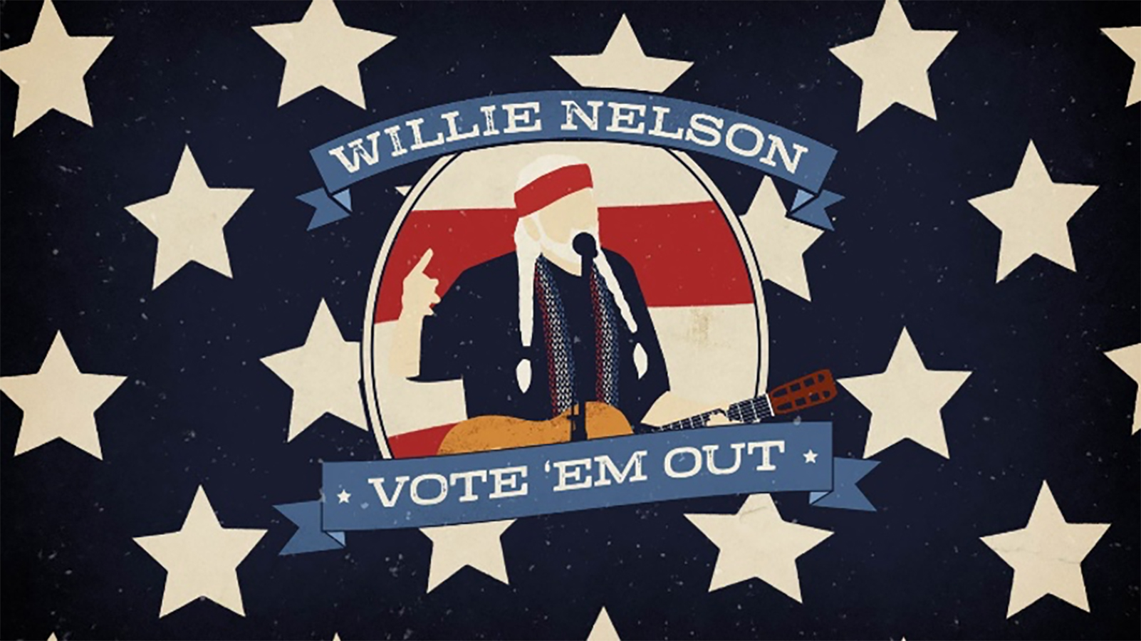 """Willie Nelson's """"Vote 'Em Out"""" Video Available Now"""