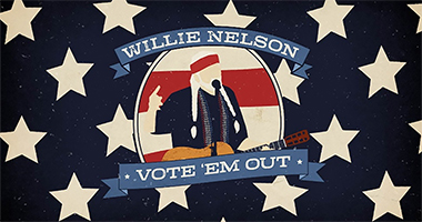 "Willie Nelson's ""Vote 'Em Out"" Video Available Now"